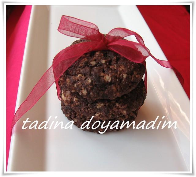 yulaflı çikolatalı kurabiye