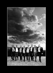 Groom and Groomsmen at Peterstone Court (Andy Bev) Tags: monochrome dramaticlighting weddingphotos justclouds cloudsandbirds peterstonecourt groomandgroomsmenatpeterstonecourt breconphotographers southwalesphotographers