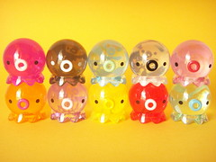 Cute Good-Luck Takochu Acrylic Clear Octopus Toys New Colour (Kawaii Japan) Tags: