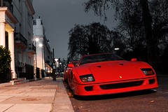 Legend on the Street. (Alex Penfold) Tags: lighting camera red london cars alex sports car night canon dark photography photo cool shot nightshot image awesome picture fast super ferrari spot exotic photograph supercar spotting numberplate exotica supercars f40 penfold spotter 2011 450d hpyer