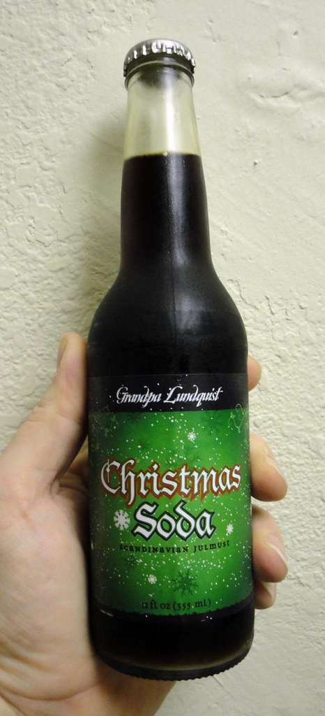 Grandpa Lunquist Christmas Soda bottle