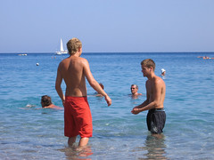 Beach Boys (Toni Kaarttinen) Tags: boy sea shirtless guy beach boys swimming island greek boat guys greece grecia griechenland rodos rhodes grèce rodi rodes rhodos grécia rodas dodecanese elláda swimmingtrunks ελλάδα hellás ródos ρόδοσ ἑλλάσ