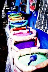 Colours (Cl.) Tags: colours colores morocco marruecos chefchouen chouen tintes pigmentos