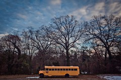 Drop off the key Lee (ScottJphoto) Tags: blue trees winter sky snow cold bus yellow clouds big mark ii 5d polarizer circularpolarizer wheelsonthebus 5dm2 hoponthebusgus 5dmii