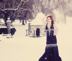 Winter Wonderland (Brent Gambrell) Tags: winter woman snow ice girl beautiful beauty lady photography model photographer dress photos witch tennessee kentucky formal queen portraiture harrogate winterwonderland blackdress lmu cumberlandgap 50mmf18 icequeen icewitch nikond40 brentgambrell