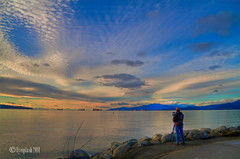 another 7d by the bay (Eyesplash - the new slow way) Tags: camera blue sky sun canada reflection beach water vancouver clouds canon eos bravo rocks photographer pacific britishcolumbia 7d handheld inlet englishbay hdr vapour vapor photomatix tonemapped