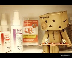 Danbo's Misadventure (RiaPereira - here and there) Tags: canon accident 7d skateboard series bandaid bandages infirmary getwell danbo techdeck kidatheart funwithtoys astory theincident toddlermischief danboard danboseries danbolove riapereira danboadventures toyintheframethursday htitft hurtdanbo