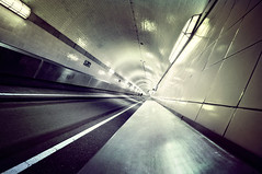 (deNNis-grafiX.com) Tags: light lines architecture port person harbor vanishingpoint dynamic harbour hamburg tube pedestrian tunnel architektur hafen landungsbrcken stpauli elbtunnel tunnelvision alterelbtunnel tunnelblick fusgnger gettyimagesgermanyq1