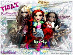 "Dollz Next Top Model ''Week 1'' KNOCK OFF! - Scarlet and the ""Ticaz"" (Carol Parvati ) Tags: scarlet adri doll andressa sasha forever mga picnik dessa bratz themovie vinessa diamondz 101010 carolparvati agathadiamond"