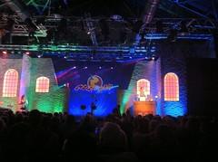 Geierabend 2011: Die Bühne (mit dem Steiger)