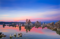 The Pink Opaque (David Shield Photography) Tags: california sunset sky lake color reflection water landscape twilight monolake grad tufa easternsierra leevining southtufa singhray nikond700