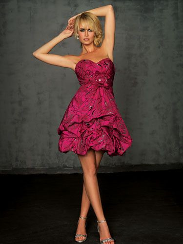 Ingrid Callot NightMoves6012 Fuchsia prom dress from shoponline2011.com