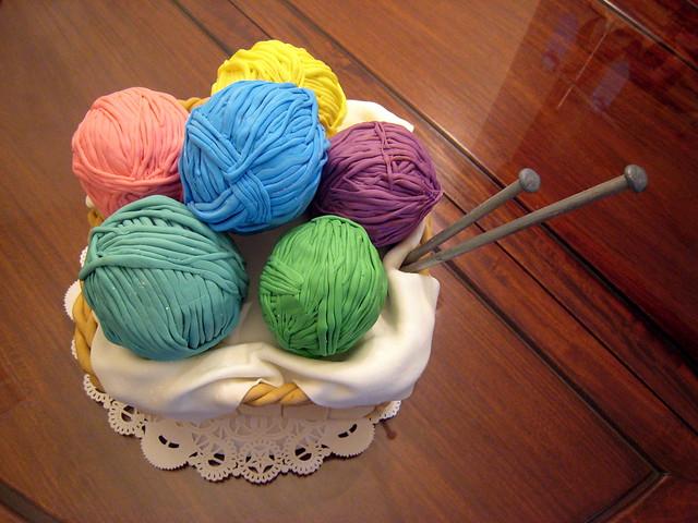 Knitting Basket Birthday Cake