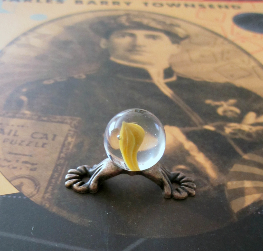 Miniature Crystal Ball with Spirit Perhaps Being Conjured Up~ Ideal for All Scales