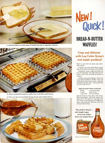 Bread and Butter Waffles Life Oct 17 1955