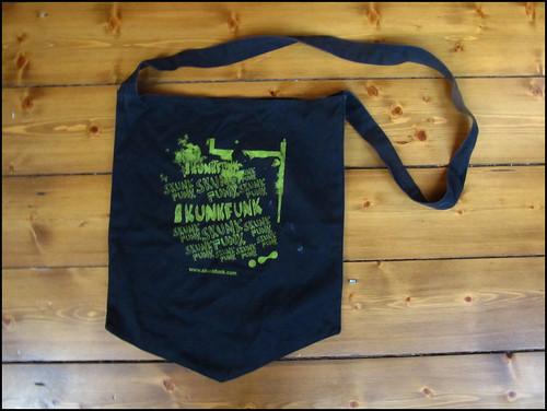 skunkfunk cotton tote for yard sale