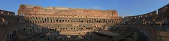 Colosseum Wide Angle (trisgti) Tags: blue sky italy rome roma canon ancient ruin wideangle panoramic powershot unesco colosseum dri hdr gladiator colosseo expos