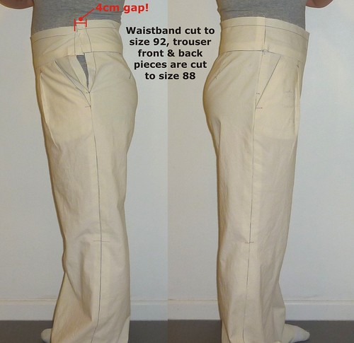 02 Trying on the trousers - Muslin #1