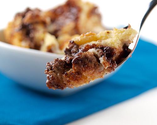 Raspberry Nutella Bread Pudding