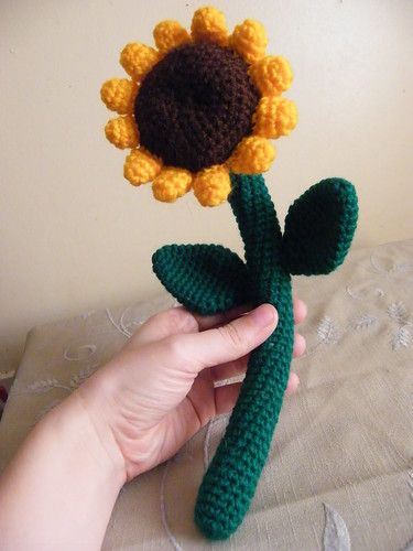 Crocheted Sunflower