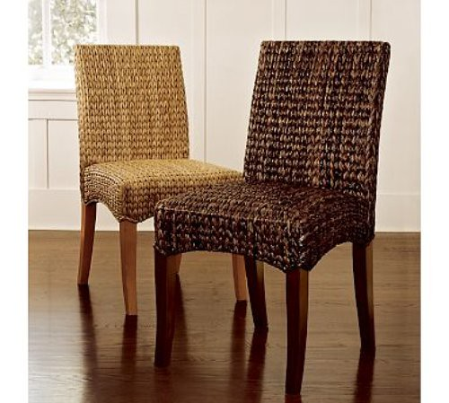 CreateGirl: Adding Texture With Pottery Barn Seagrass Chairs