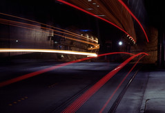 Day 318/365 - Bus Tunnel (Great Beyond) Tags: seattle longexposure november bus slr film night analog 35mm canon project eos washington chinatown image kodak slide headlights ishootfilm slidefilm nighttime 35mmfilm k2 kodachrome kr 365 eastman slides 3000v taillights afterdark internationaldistrict 2010 downtownseattle k14 bustunnel latent eastmankodak project365 canoneosrebelk2 filmisnotdead canonrebelk2 kr64 iso64 kodakkodachrome64 latentimage tamronaf28200mm dwaynesphoto tamron28200mmf3856ldasphericalifsuper november2010