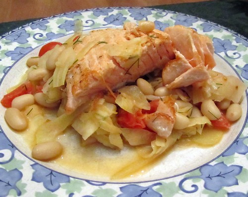 Salmon w/ Fennel & White Beans