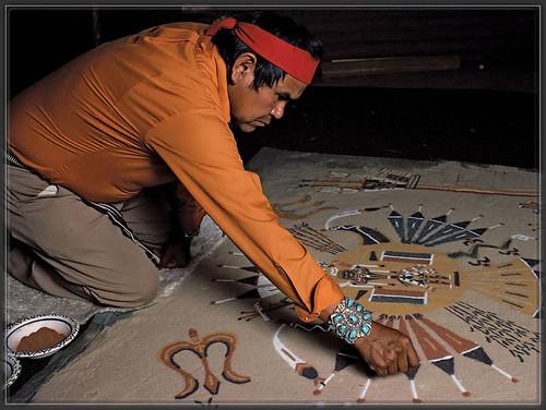 navajosandpainting,hozho,peinture de sable,guerison,harmonie