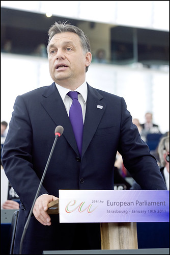 Hungarian Prime Minister Viktor Orbán presents the program of activities of the Hungarian presidency of the Council in the EP hemicycle on Wednesday 19th of January 2011 (Photo: European Parliament/Flickr)