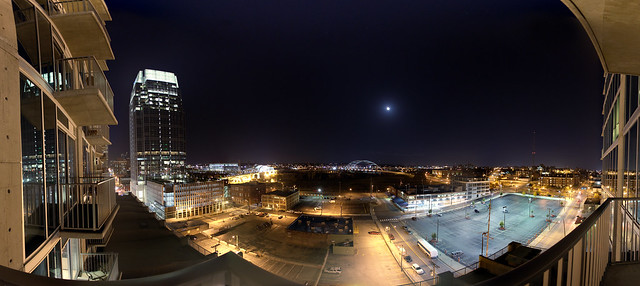 2010 11-22 Downtown Nashville Panorama at Night