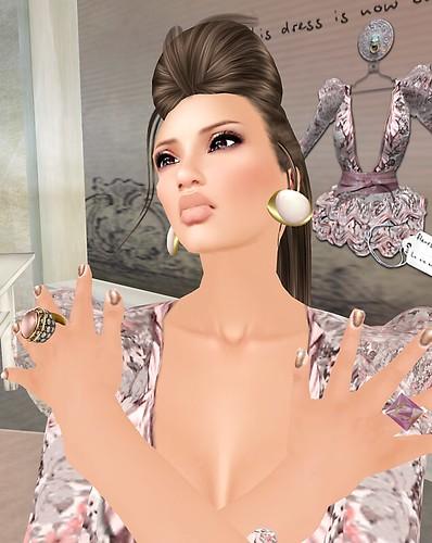 1b La Femme Fleur Vintage La vie en rose