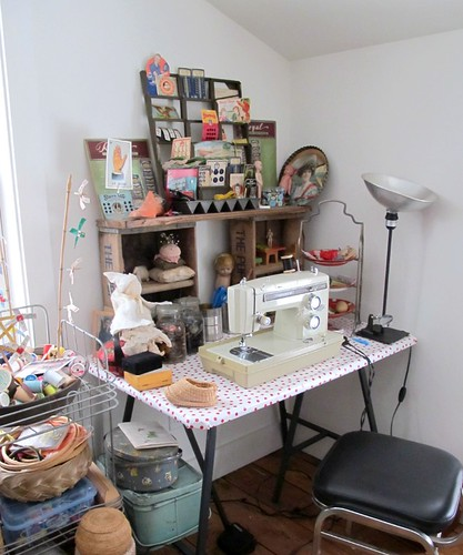 barn sewing corner
