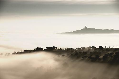 フリー写真素材, 自然・風景, 霧・霞, 丘, イタリア,