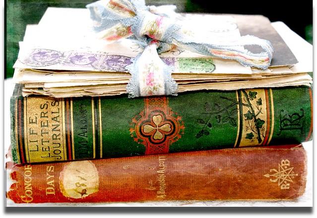 Texture Tuesday Vintage Books