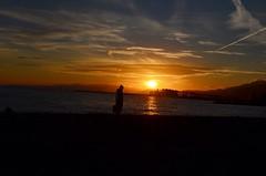 Winter #sunset #beach #sea #fisherman #amazing #orange #blue #nikon #winter #beautiful #photographer #photography (francescabonsi) Tags: amazing orange winter blue sunset beautiful photographer sea beach nikon fisherman photography italy