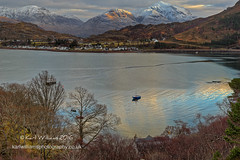 Shieldaig Daybreak (Shuggie!!) Tags: boats dawn hdr highlands hills houses jetties landscape morninglight mountains scotland shoreline snow sunrise torridon trees villages westerross winter zenfolio karl williams karlwilliams