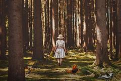 the forest of butterflies (Pantalymon) Tags: forest butterflies girl summer dress vintage nature warm 50mm