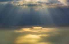 Lac Leman light show (snowyturner) Tags: lake geneva switzerland sunlight shafts mountains descent clouds winter