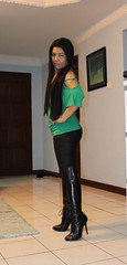 Knee Length (johnerly03) Tags: erly philippines asian filipina fashion knee length black high heel boots edgy long hair