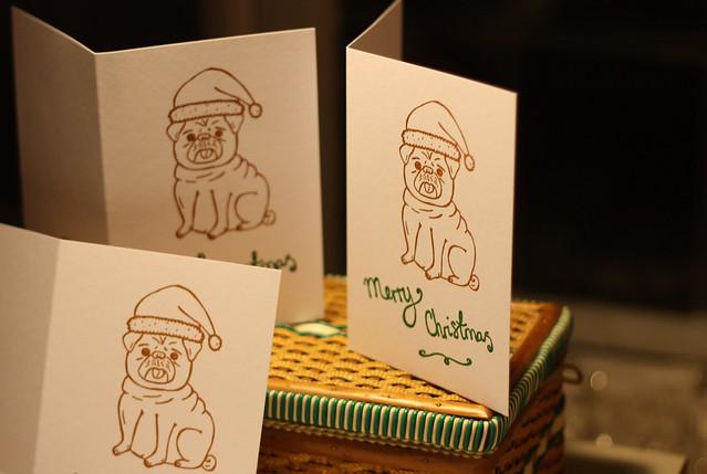 Gocco'd Christmas Card