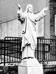 Jesus (al-absi) Tags: blackandwhite bw church saint boston cross massachusetts jesus olympus littleitaly 1442 hanoverst e620