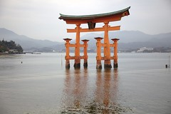 itsukushima at low tide