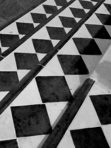 Diamond Patterns on Stairs