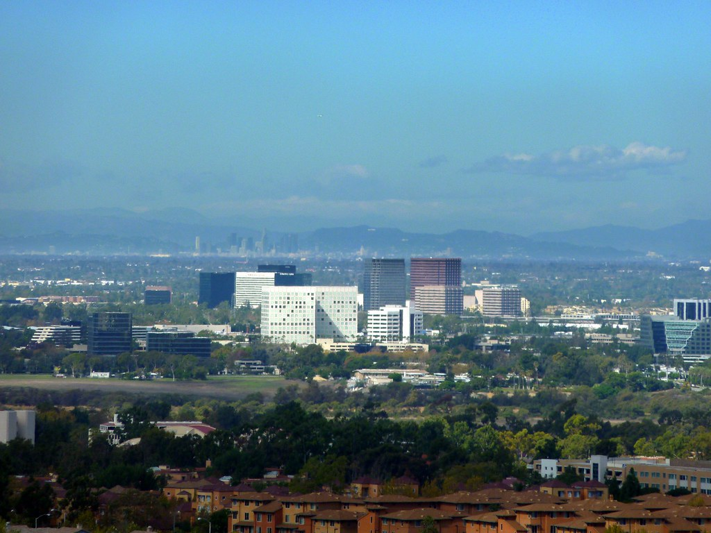 Downtown Los Angeles 38 miles, Hollywood Sign 45 miles, Griffith Observatory and South Coast Metro Costa Mesa from Irvine