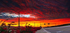 Rosy Sunset (jimhankey) Tags: winter sunset red arizona sky cloud sun mountain storm mountains phoenix beautiful weather yellow clouds landscape desert cloudy dusk scenic naturallight sunny valley vista glowing redsky dramaticsky beautifulclouds beautifulview desertview stormclouds 2010 phoenixarizona arizonawinter beautifulscenery afternoonlight phoenixaz scenicview desertmountain maricopacounty yellowsky goldsky goldenafternoon unusuallight chandlerarizona chandleraz glowingcloud dearflickrfriend jimhankey arizonaweather nikond300 phoenixweather phoenixariz chandlerariz