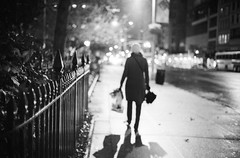 (patrickjoust) Tags: park street new leica york city nyc urban bw usa white ny black blur blancoynegro film home rain night analog speed america 35mm fence dark walking square lights us high focus amy mechanical bokeh manhattan f14 cosina united voigtlander north patrick rangefinder 1600 madison rainy fujifilm after neopan 40 states manual 40mm pushed gotham m3 13 joust 3200 range finder developed nokton cv wetzlar develop estados xtol blancetnoir unidos leitz schwarzundweiss autaut rckenfigur voigtlandernokton40mmf14mc patrickjoust