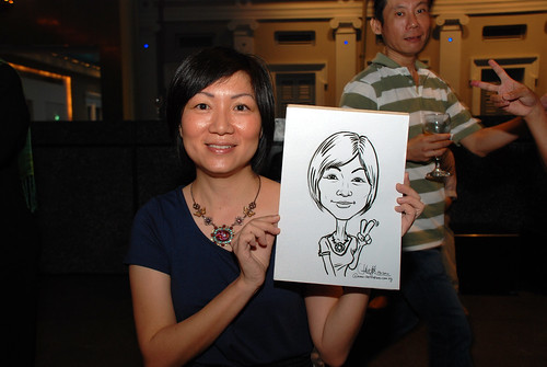 Caricature live sketching for Autism Association(Singapore)- Staff Dinner 2010 - 4
