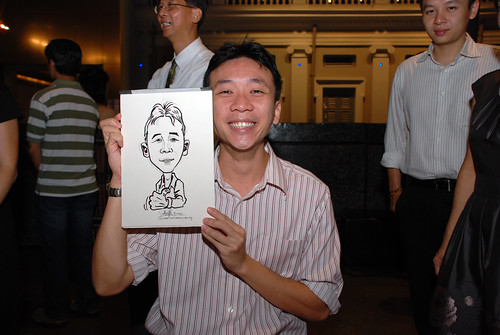 Caricature live sketching for Autism Association(Singapore)- Staff Dinner 2010 - 9