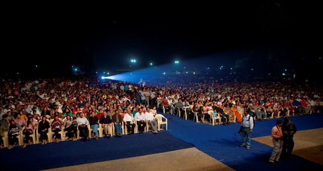 A section view of the 20,000 residents at the Magarpatta City Foundation Day