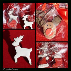 Christmas Cookies (Sweet Creations Studio (by Senel)) Tags: santa christmas red brown white cookies hat hearts reindeer nose boot design spain fdsflickrtoys holidays cookie decoration feathers collection espana rudolph stocking dots mallorca cupcakesisters